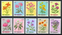 Saint-Marin 1971 Yvert 791 / 800 ** TB Bord De Feuille - Unused Stamps