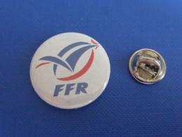 Badge Rugby - FFR Fédération Française - Coq Tricolore Sportif (Z1) - Rugby