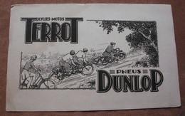 Buvard Terrot-cycles -motos -Dunlop - Bikes & Mopeds