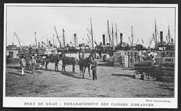 1908  --  ESPAGNE PORT DU GRAO . EMBARQUEMENT DES CAISSES D ORANGES . 3U116 - Unclassified
