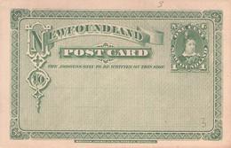 NEW FOUNDLAND - STATIONARY POSTCARD 1 CENT -not Used- //GA87 - Postal Stationery