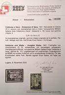Cefalonia E Itaca 1941 RARE Sa. 16 MNH** Cert Avi(Greece Ionian Islands OCCUPAZIONE MILITARE ITALIANA Italia Italy - Cefalonia & Itaca