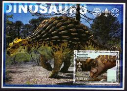 """Congo 2002 - Lot De 8 Blocs Feuillets """"Dinosaures""""  Oblitération Très Légère - Used - Prehistóricos"""