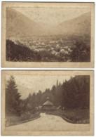 Lot De 2 Grands CDV - LUCHON - 16,3 X 11,5 Cm - Photo De Cabinet - Ancianas (antes De 1900)