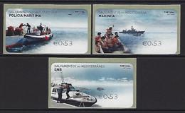 PORTUGUESE - Labels - Mediterranean Rescues - The Portuguese Navy's Mission In The Mediterranean - Marcofilia - EMA ( Maquina De Huellas A Franquear)