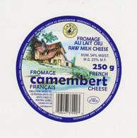 ETIQUETTE DE CAMEMBERT CARON CEE 37 192 31 - Quesos