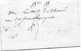 Monogramme Noir De LOUIS XVIII ,L.A.C. Au Marquis De THOME Le 6/5/1816. - 1801-1848: Vorläufer XIX