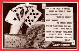 GAMBLING POKER PLAYING CARDS   RUNNING ROYAL FLUSH  RP  Pu 1938 - Playing Cards