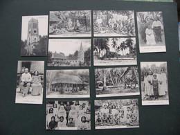 Lot 12 Cpa Iles GILBERT Kiribati Indigènes écoles Missions églises Couvent - Kiribati