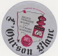 ETIQUETTE DE FROMAGE L OURSON BLANC 77 SAINT SIMEON - Quesos