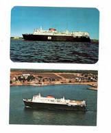 "2 Different, Maritimes, Canada, Ferry M. V, ""AMBROSE SEA"", Old Chrome Postcard - Fähren"