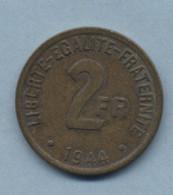 1944 2 Francs Type FRANC BRONZE-ALU - I. 2 Francs