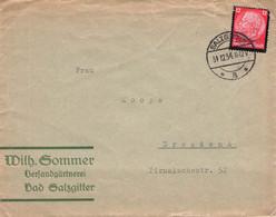 DEUTSCHES REICH - BRIEF 1934 SALZGITTER > DRESDEN Mi #552 //GA105 - Lettres & Documents