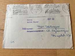 K13 BRD 1964 Brief Vom Postscheckamt Stuttgart Mit Mwst. Killesberg Rückseitige Reklame - Covers & Documents