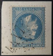 29B/fgmt Obl BUREAU COMPLEMENTAIRE GC 4417 Beauvezer (5 Basses Alpes ) Ind 14 - 1849-1876: Classic Period