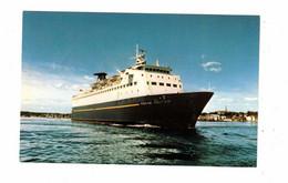 "Maritimes, Canada,  Ferry M. V. ""MARINE NAUTICA"", Between NS & Nfld, Old Chrome Postcard - Fähren"