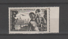 FRANCE / 1942 / Y&T N° 543 ** : Quinzaine Impériale BdF D - Unused Stamps