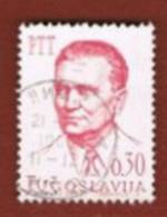 JUGOSLAVIA (YUGOSLAVIA)   - SG 1181   -    1966 PRESIDENT J.B. TITO 0,30   - USED - Used Stamps