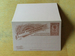KO1 Belgisch-Kongo Ganzsache Stationery Entier Postal P 16 - Enteros Postales