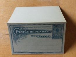 KO1 Belgisch-Kongo Ganzsache Stationery Entier Postal P 17 - Enteros Postales