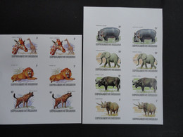 Burundi 1982 WWF Imperf Color Trial/2 Pages/ - Unclassified