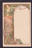 CPA MUCHA Alphonse Art Nouveau Non Circulé Femme Women Voir Dos Publicité Moet Et Chandon Champagne Reims - Mucha, Alphonse