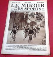 Miroir Des Sports N°257 Mai 1925 Bordeaux Paris Cycliste Suter,Paavo Nurmi,Costantini Targa Florio,Amundsen Pôle Nord - Sport