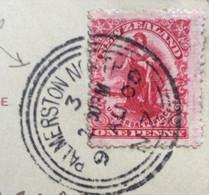 NEW ZEALAND - CARTOLINA   ONE PENNY  FROM  PALMERSTON NORTH  9/8/1900  TO  DOMODOSSOLA ITALY - Briefe U. Dokumente