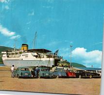 Hellenic Mediterranean Lines - M/s EGNATIA - CPM, G.F, Voir Scan / BROCHETTES DE VOITURES ANNEES 60 - Steamers