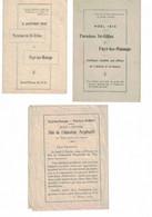 Fayt-lez-Manage. Paroisse De Saint-Gilles.  Noël 1915, 2 Janvier 1916, 2 Février - Imágenes Religiosas