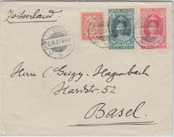 Niederl. Indien - 5 C. Reg. Jubiläum U.a. Brief I.d. SCHWEIZ Buitenzorg 1923 - Ohne Zuordnung