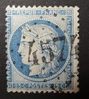 60C Variétés Filets Obl BUREAU COMPLEMENTAIRE GC 4574 Chouzy (40 Loir & Cher ) Ind 12 - 1849-1876: Periodo Clásico