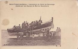 FRANCE - Saint Trojan Les Bains - Lancement Du Canot De Sauvetage Monte Par Son Equipe De Marins Sauveteurs - Ile D'Oléron