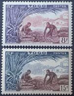 R2062/500 - 1954 - COLONIES FR. - TOGO - N°256 à 257 NEUFS* - Neufs