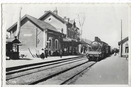 DIGOIN (71) La Gare  Cim, Cpsm Pf  (train Gros Plan & Chef De Gare) - Digoin