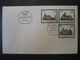 Deutschland DDR 1985- FDC Beleg Burgen In Der DDR - Sobres - Usados