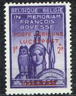 Série François Bovesse :  1 F + 2 F Poste Aérienne En Premier - Airmail