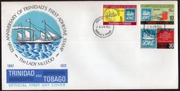 Trinidad & Tobago - 1972- FDC - Sailboats - 125th Anniversary Of Trinidad's First Adhesive Stamp - The Lady MacLeod - Trinidad & Tobago (1962-...)
