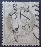 R1286/463 - CERES N°52a Gris-jaunâtre - Oblitération Par La Plume De L'expéditeur Du Courrier - 1871-1875 Ceres