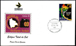 Bolivia 1994 CEFIBOL 1533s SPD Eclipse Solar. Alegoría Del Eclipse. Mapa, Pantera, - Bolivien