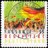 GERMANY - Scott #2671 Soccer Fans 'Perf. 11' / Used Stamp - Used Stamps