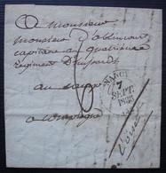 Nancy 1836 Lettre Pour Mr D'Ablincourt Capitaine Au Quatrième Régiment De Hussards à Compiègne - 1801-1848: Precursori XIX
