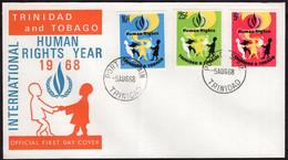 Trinidad & Tobago - 1968 - FDC - International Human Rights Year 1968 - Trinidad & Tobago (1962-...)