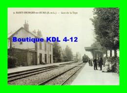 AL REP 54 - Train En Gare De La Taye - SAINT-GEORGES SUR EURE - Eure Et Loir 28 - Etat - Reproduction - Estaciones Con Trenes