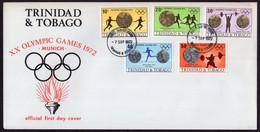 Trinidad & Tobago - 1972 - FDC - Olympic Games Munich 1972 - Sommer 1968: Mexico
