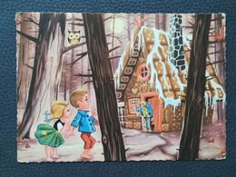 Hansel And Gretel, Hansel Und Gretel, Postcards Traveled 1962 (M3) - Fairy Tales, Popular Stories & Legends