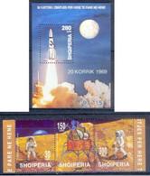 AA137- Albania Albanie Shqiperia 1999 Apollo Space 30 Year Of Moon Landing. - Albania