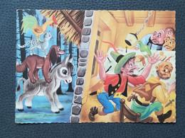 Die Bremer Stadtmusikanten, The Town Musicians Of Bremen, Postcards Traveled 1962 (M3) - Fairy Tales, Popular Stories & Legends