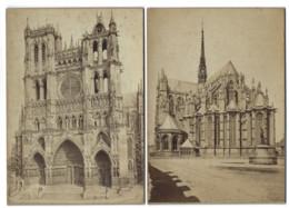 Lot De 5 Grands CDV - AMIENS - Cathédrale - 16,3 X 11,5 Cm - Photo De Cabinet - Alte (vor 1900)
