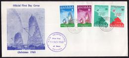 Guyana - 1968 - FDC - Christmas 1968 - Tropospheric Sactter Radiolink Guyana-Trinidad - Guyana (1966-...)